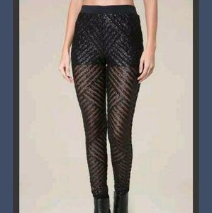 NWT Bebe Sequin Leggings, Sz S